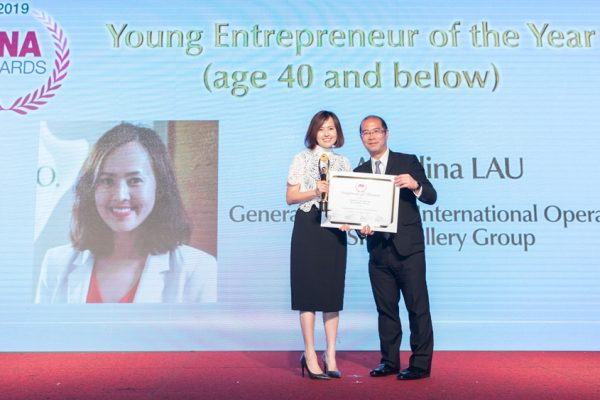 "SK Jewellery Group's Angelina Lau was awarded ""Young Entrepreneur of the Year"" at the Jewellery News Asia (JNA) Awards 2019"